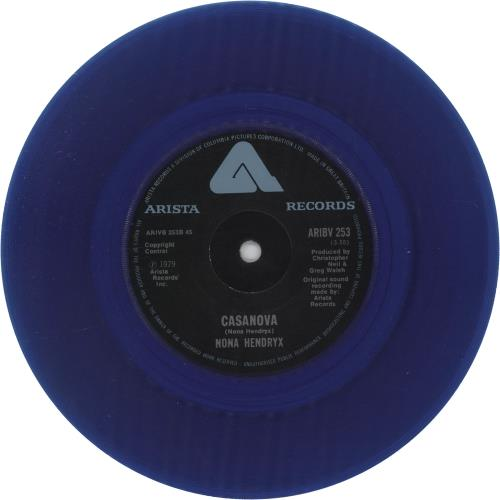 """Nona Hendryx You're The Only One That I Ever Needed - Blue Vinyl 7"""" vinyl single (7 inch record) UK NOH07YO671678"""