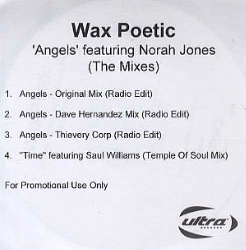 Norah Jones Angels - The Mixes CD-R acetate UK NRJCRAN338955