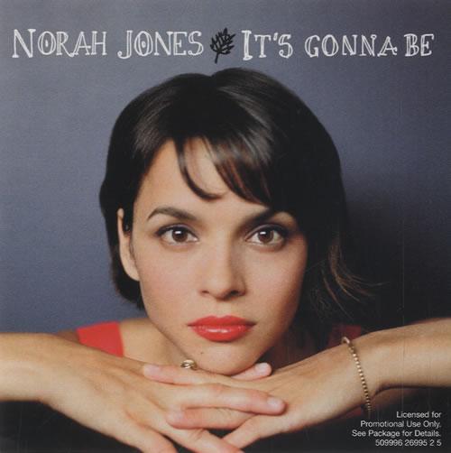 "Norah Jones It's Gonna Be CD single (CD5 / 5"") US NRJC5IT498967"
