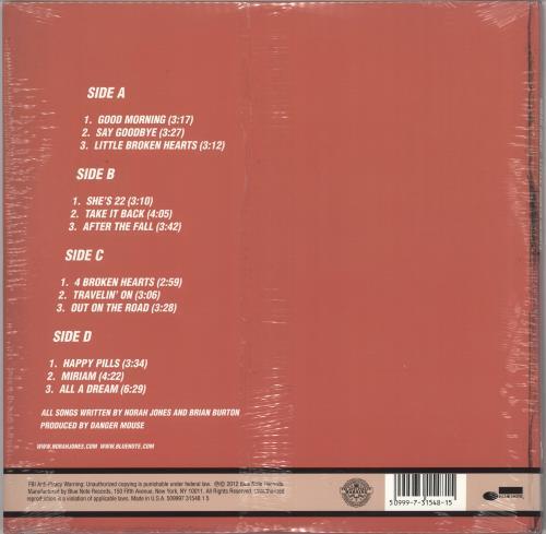 Norah Jones Little Broken Hearts - 180gm White Vinyl - Sealed 2-LP vinyl record set (Double Album) US NRJ2LLI724857