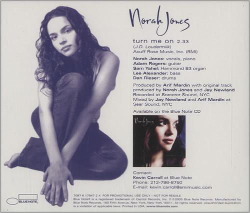 "Norah Jones Turn Me On CD single (CD5 / 5"") US NRJC5TU456529"