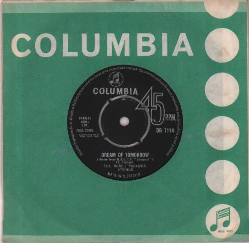 "Norrie Paramor Dream Of Tomorrow 7"" vinyl single (7 inch record) UK NPA07DR654512"