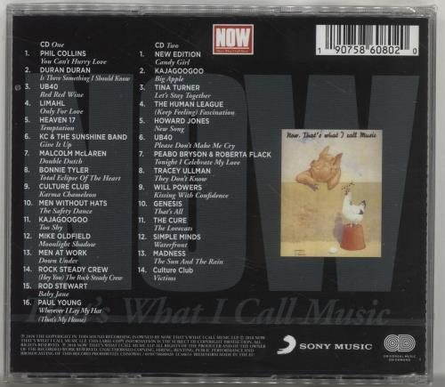 Now That's What I Call Music Now 1 - Sealed 2 CD album set (Double CD) UK N.W2CNO700555