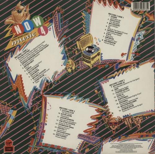 Now That's What I Call Music Now That's What I Call Music 4 - EX 2-LP vinyl record set (Double Album) UK N.W2LNO757665