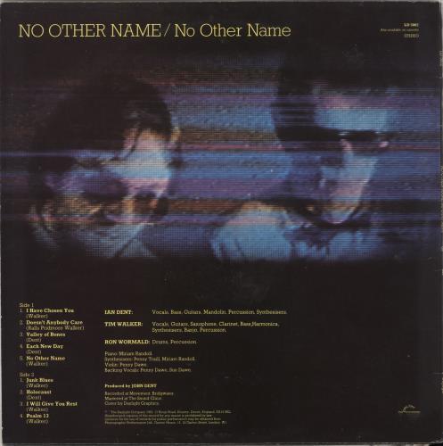 No Other Name No Other Name vinyl LP album (LP record) UK ZOCLPNO712452