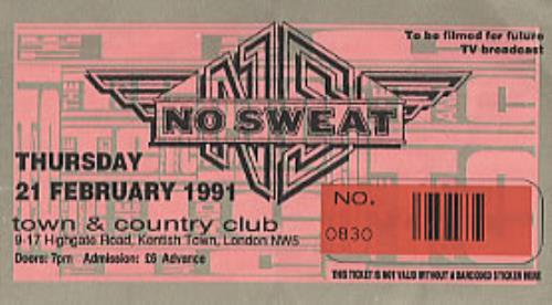 No Sweat Concert Ticket concert ticket UK NOSTICO304276