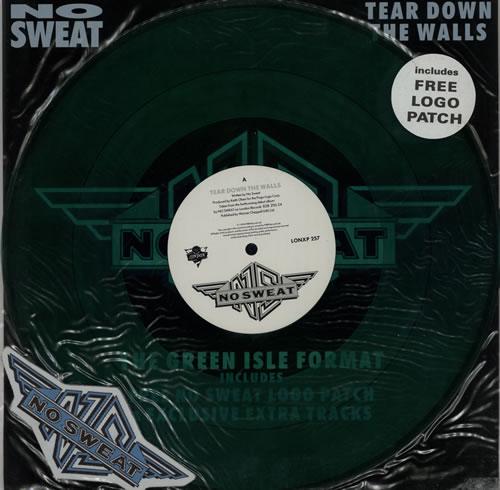 "No Sweat Tear Down The Walls + Patch 12"" vinyl single (12 inch record / Maxi-single) UK NOS12TE301287"