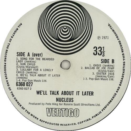 Nucleus We'll Talk About It Later - 1st - VG vinyl LP album (LP record) UK NCULPWE604142