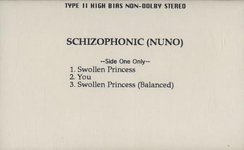 Nuno Bettencourt Schizophonic cassette single US NNOCMSC162320