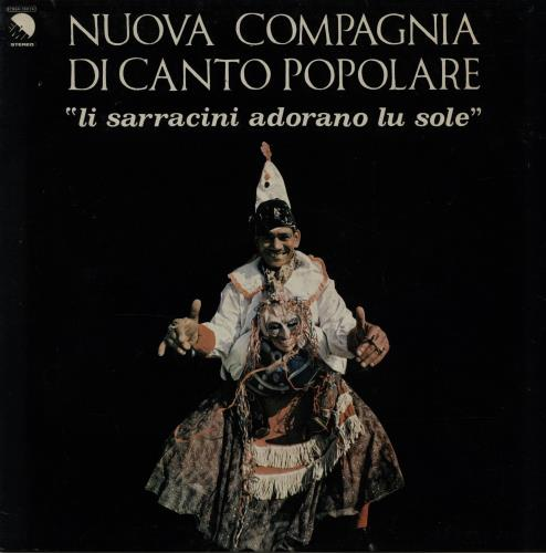 Nuova Compagnia Di Canto Popolare Li Sarracini Adorano Lu Sole vinyl LP album (LP record) Italian N9ZLPLI644316