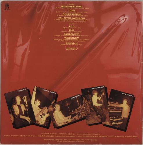 Nutz Live Cutz vinyl LP album (LP record) UK NUTLPLI597514