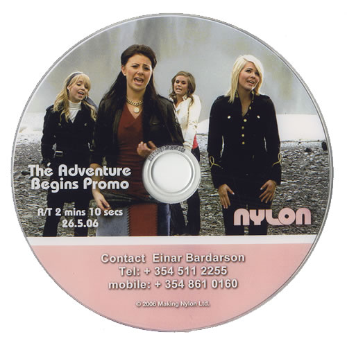 Nylon The Adventure Begins promo DVD-R UK NC-DRTH474279