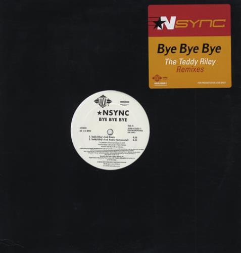 """N Sync Bye Bye Bye - Teddy Riley Remixes 12"""" vinyl single (12 inch record / Maxi-single) US NSY12BY155598"""