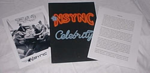 N Sync Celebrity media press pack US NSYPPCE215001