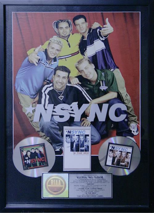 N Sync N*Sync / Home For Christmas / N The Mix award disc US NSYAWNS535945