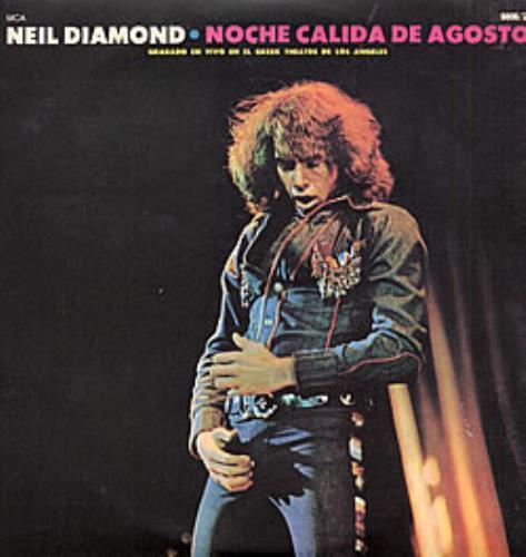 Neil Diamond Noche Calida De Agosto 2-LP vinyl record set (Double Album) Argentinean NDI2LNO234215