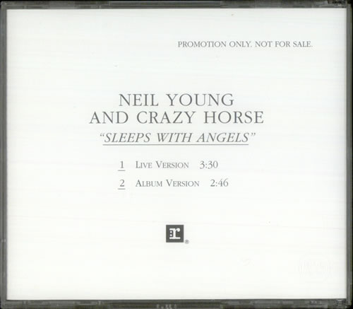 """Neil Young Sleep With Angels - stickered case CD single (CD5 / 5"""") US YOUC5SL314221"""