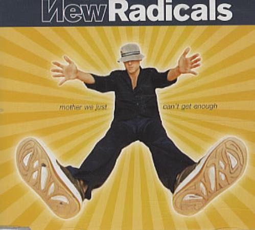 """New Radicals Mother We Just Can't Get Enough CD single (CD5 / 5"""") UK NRCC5MO311851"""