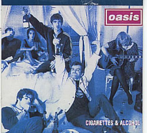 """Oasis (UK) Cigarettes & Alcohol - Wallet CD single (CD5 / 5"""") Australian OASC5CI75375"""