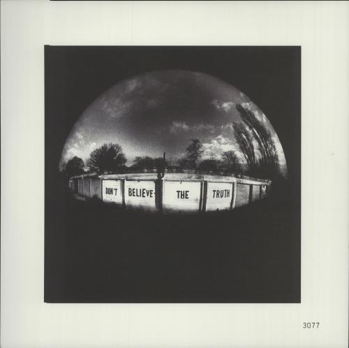 Oasis (UK) Don't Believe The Truth + Print vinyl LP album (LP record) UK OASLPDO528560