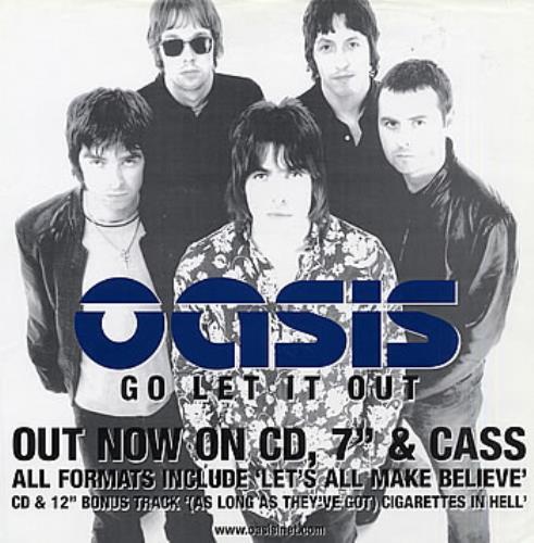 Oasis (UK) Go Let It Out poster US OASPOGO289697