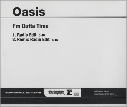 "Oasis (UK) I'm Outta Time CD single (CD5 / 5"") US OASC5IM455555"