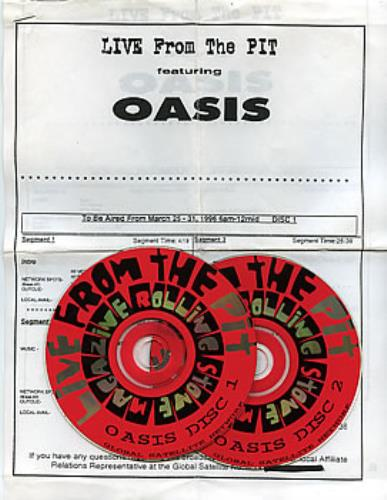 Oasis (UK) Live From The Pit - Radio Show 2 CD album set (Double CD) US OAS2CLI78701