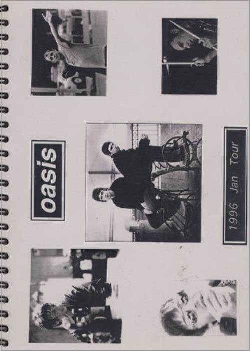 Oasis 1996 January Tour Itinerary UK OASITJA406502