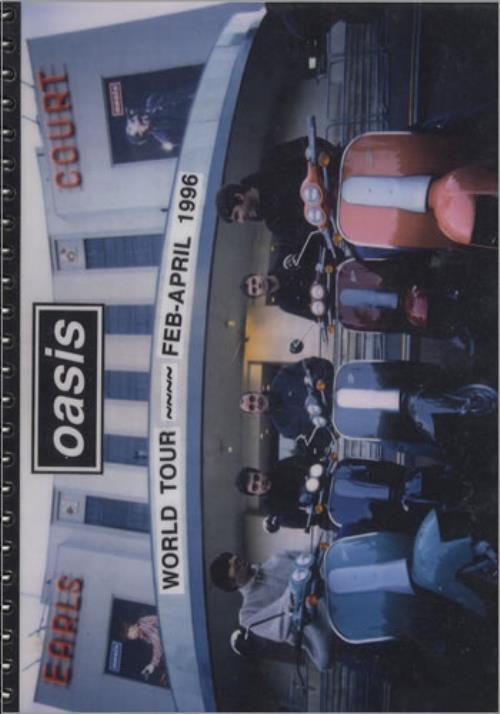 Oasis 1996 World Tour Itinerary Itinerary UK OASITWO406504
