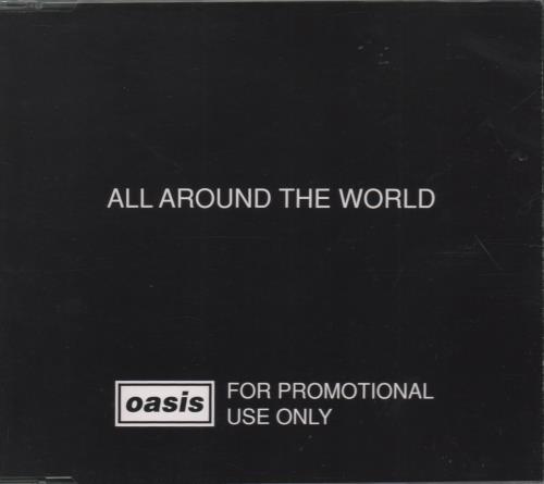 "Oasis All Around The World CD single (CD5 / 5"") Austrian OASC5AL104102"
