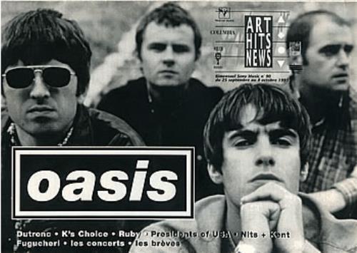 Oasis Art Hits News magazine French OASMAAR296086