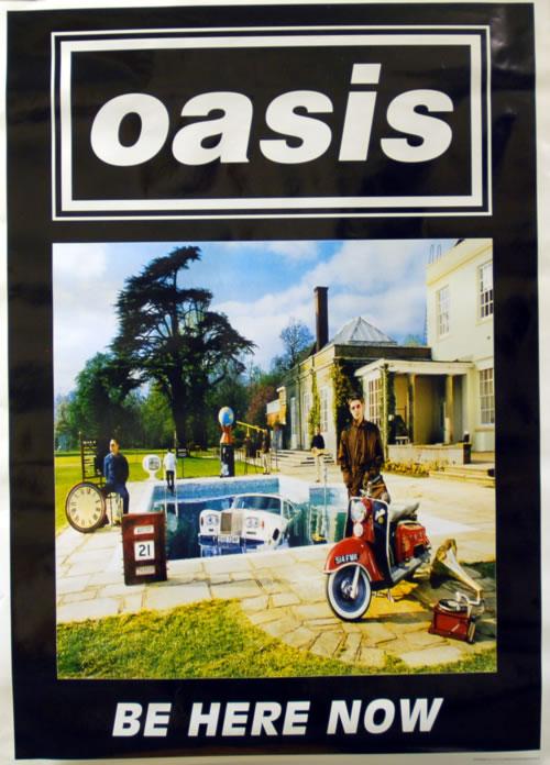Oasis Be Here Now poster UK OASPOBE627321