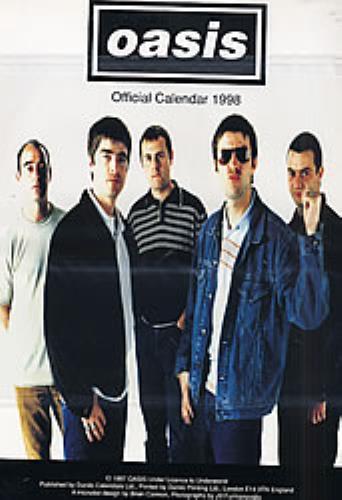 Oasis Calendar 1998 - Danilo calendar UK OASCACA92813