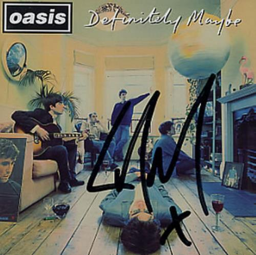Oasis Definitely Maybe - Autographed By Liam! CD album (CDLP) Austrian OASCDDE328921