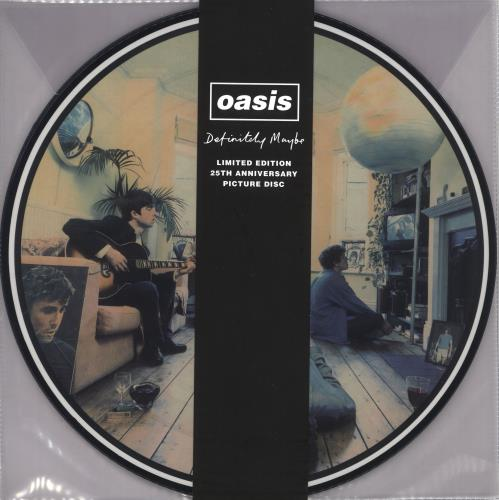 Oasis Definitely Maybe: 25th Anniversary Edition + Belly Band #LRS picture disc LP (vinyl picture disc album) UK OASPDDE730526