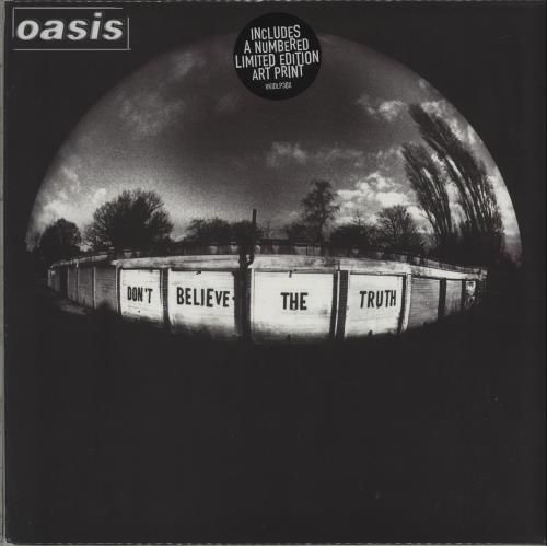 Oasis Don't Believe The Truth + Print - Sealed vinyl LP album (LP record) UK OASLPDO340655