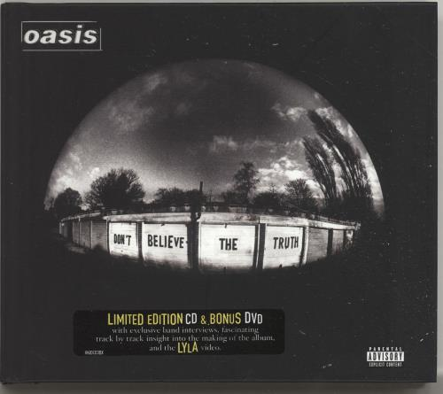 Oasis Don't Believe The Truth 2-disc CD/DVD set UK OAS2DDO695290