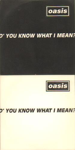 Oasis D'you Know What I Mean? 2-CD single set (Double CD single) UK OAS2SDY617134