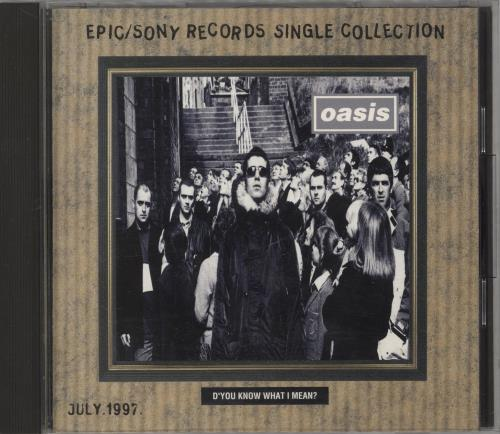 Oasis Epic/Sony Records Single Collection - July, 1997 CD album (CDLP) Japanese OASCDEP731919