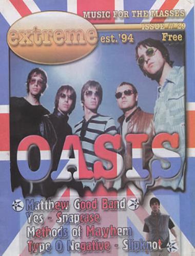 Oasis Extreme Music For The Masses magazine Canadian OASMAEX329997