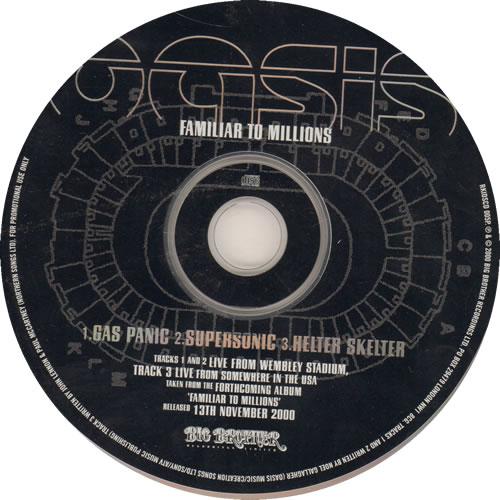 """Oasis Familiar To Millions Sampler CD single (CD5 / 5"""") UK OASC5FA170007"""