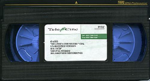 Oasis Heathen Chemistry EPK - Un-Bleeped Version video (VHS or PAL or NTSC) UK OASVIHE240593