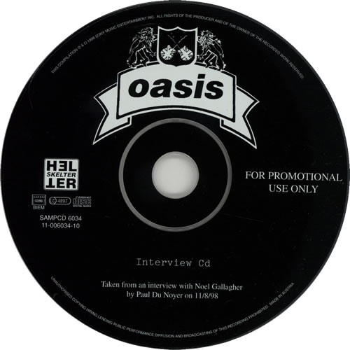 Oasis Interview CD CD album (CDLP) UK OASCDIN158467