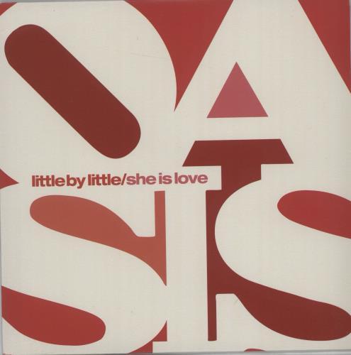 """Oasis Little By Little / She Is Love 7"""" vinyl single (7 inch record) UK OAS07LI223395"""