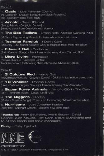 Oasis Live Forever cassette album UK OASCLLI275714