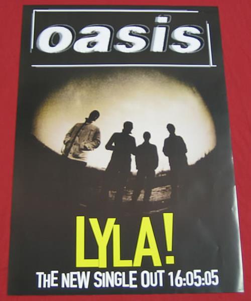 Oasis Lyla! poster UK OASPOLY359763