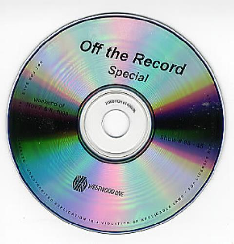 Oasis Off The Record Special CD album (CDLP) US OASCDOF143990