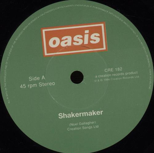 "Oasis Shakermaker - EX 7"" vinyl single (7 inch record) UK OAS07SH250085"