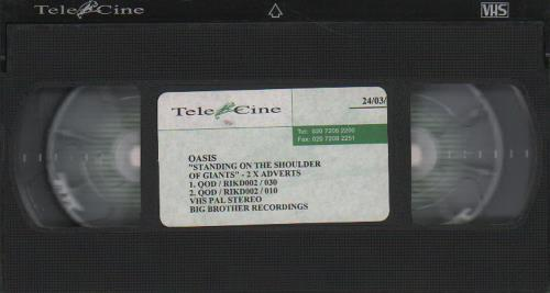 Oasis Standing On The Shoulder Of Giants - Adverts video (VHS or PAL or NTSC) UK OASVIST184457