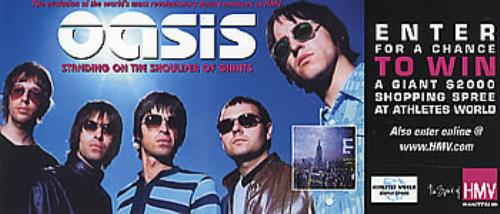 Oasis Standing On The Shoulder Of Giants - Competition Entry handbill Canadian OASHBST291415